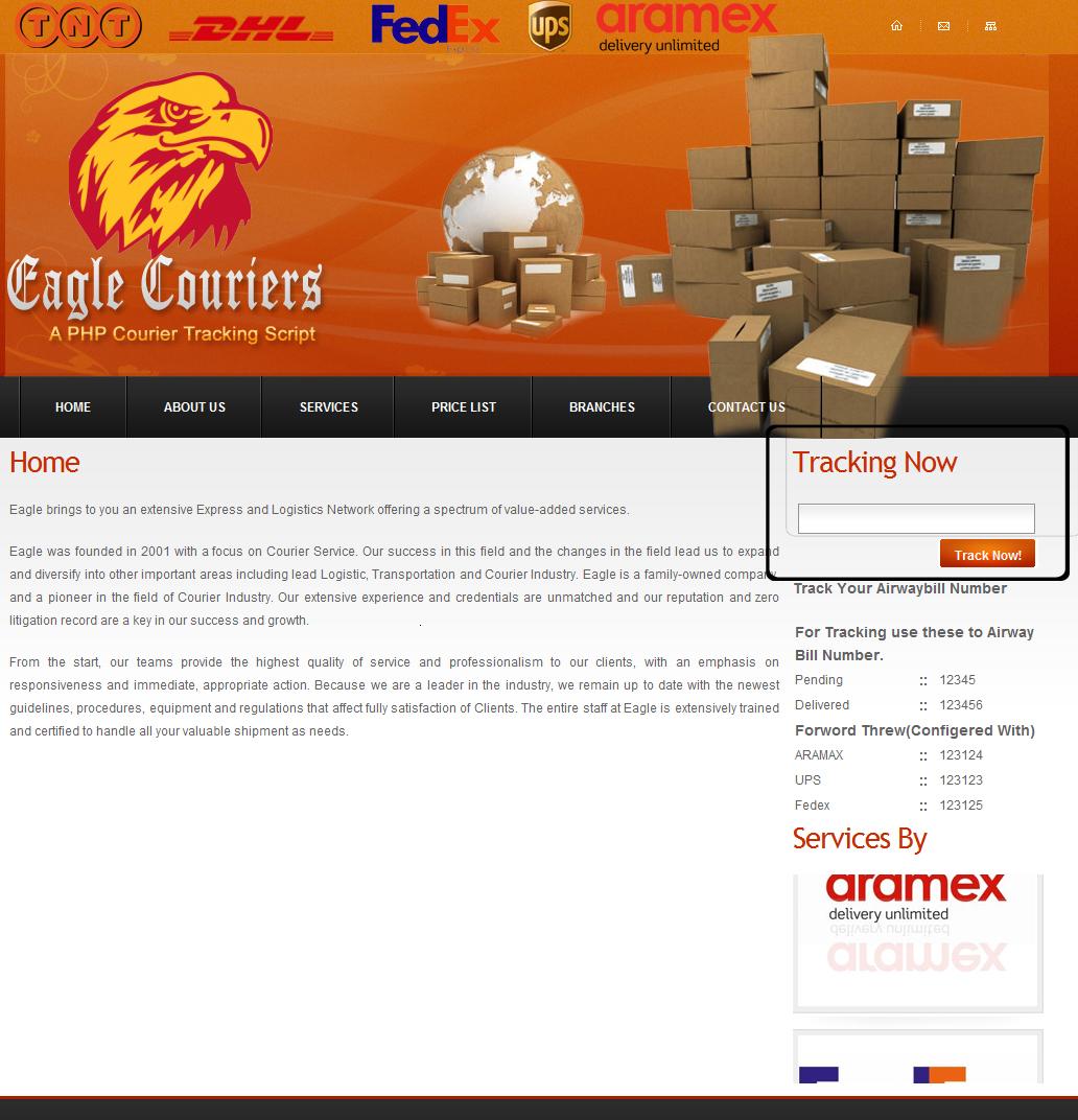 Courier Tracking Software, Courier Tracking Software Script, Courier ...