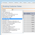 Seguimiento Courier Software : existente tarifas Cliente Gestión